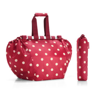 Ruby Dots Easy Shopping Bag with pouch