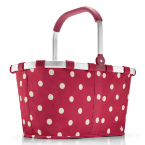 Ruby Dots Reisenthel Minimaxi Collapsible Shopping Basket