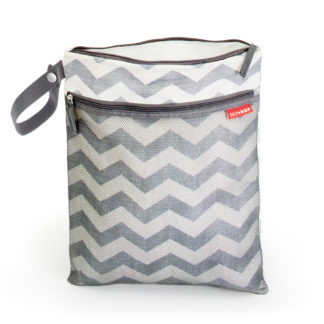 Grey Chevron Skip Hop Wet and Dry Bag