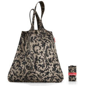 Baroque Taupe Minimaxi Folding Shopper open and folded