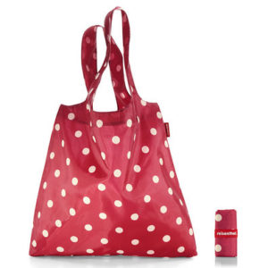Ruby Dots Minimaxi Folding Shopper folded and open