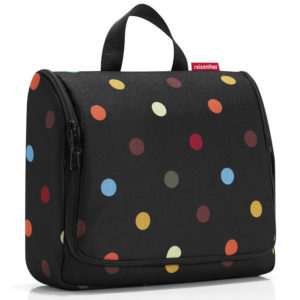 Dots Reisenthel Extra Large Hanging Wash Bag closed