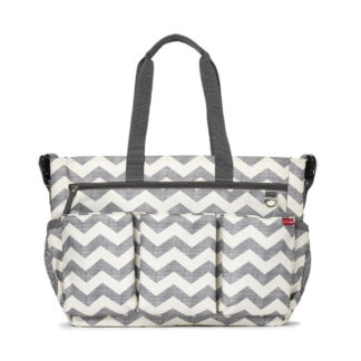 Grey Chevron Skip Hop Duo Double Signature