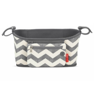 Skip Hop Grey Chevron Grab and Go Pram Organiser