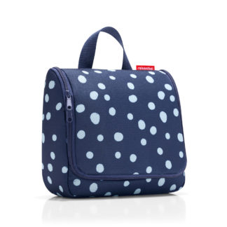 Reisenthel Spots Navy Toilet Bag closed