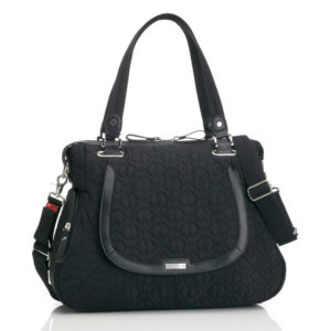 Storksak Anna Quilted Black front