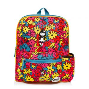 Zip and Zoe Floral Brights Backpack front