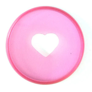 Classic Happy Planner Clear Pink Discs