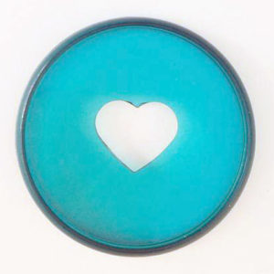 Classic Happy Planner Clear Teal Discs