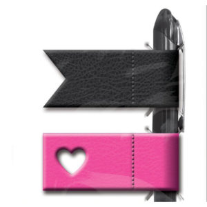 Pink and Black Happy Planner Pen Holders