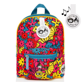 Zip and Zoe Floral Brights Mini Backpack with Reins