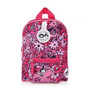 Zip and Zoe Floral Pink Mini Backpack with Reins