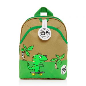 Front of the Zip and Zoe Dylan Dino Mini Backpack