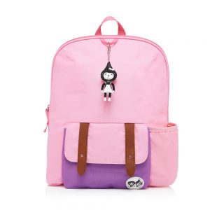 Zip and Zoe Pink Colour Block Backpack