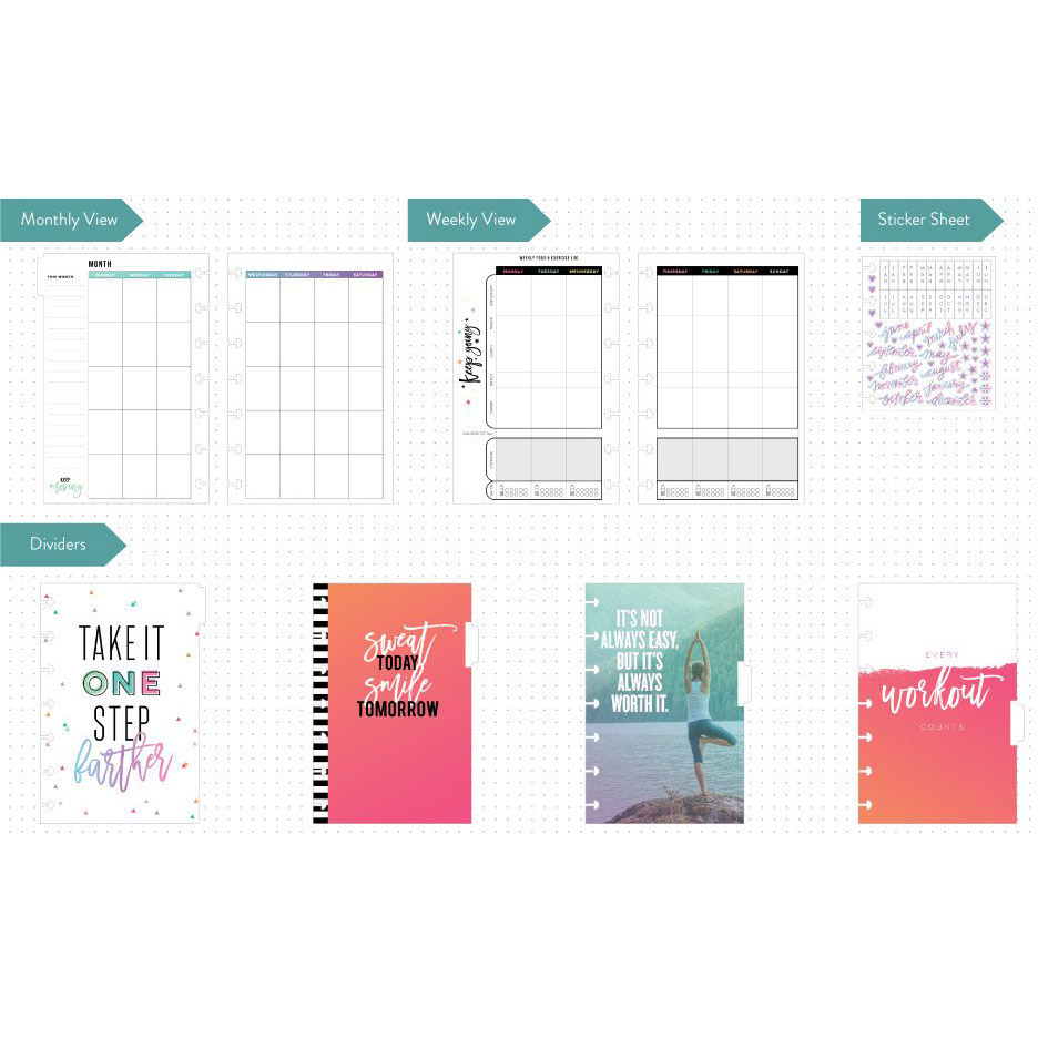 Sweat Smile Repeat Mini Happy Planner Layout