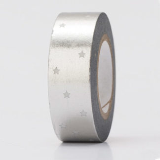 Paper Poetry Silver Stars Hot Foil Washi Tape