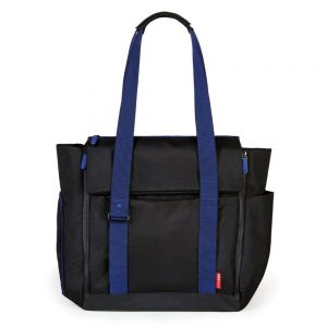 Front of the Skip Hop Black Fit All Access Tote