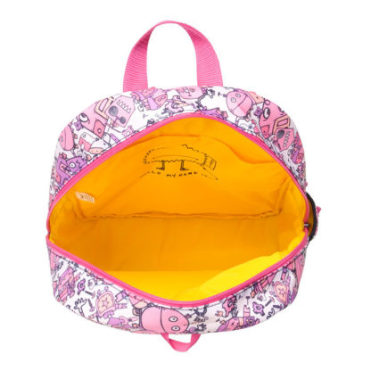 Bright yellow lining of the Junior Backpack
