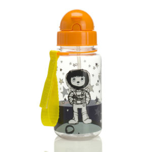 Zip and Zoe Spaceman Water Bottle with closed lid