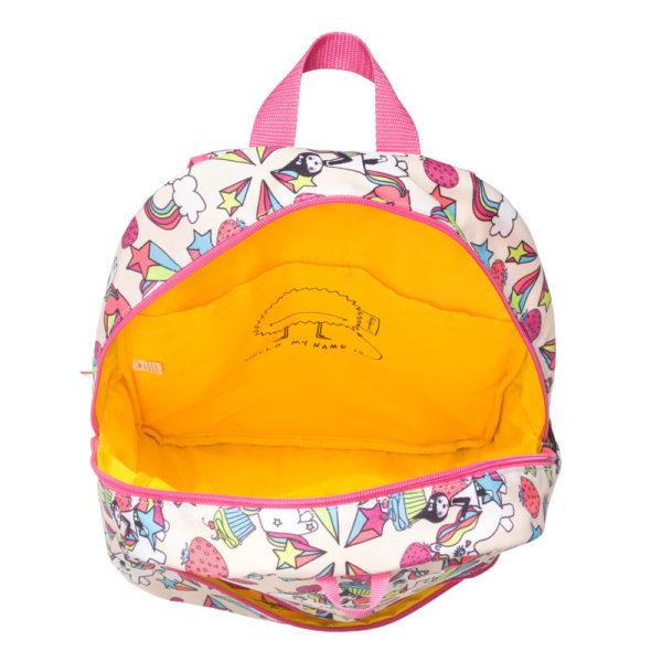 Inside the Zip and Zoe Unicorn Junior Backpack