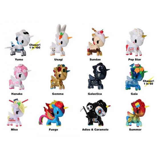Names of the Tokidoki Unicorno Series 6 Blind Box characters